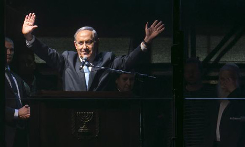 Prevent 'left-wing' government, Netanyahu tells campaign rally