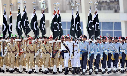 Full dress rehearsal for Pakistan Day parade held in Islamabad