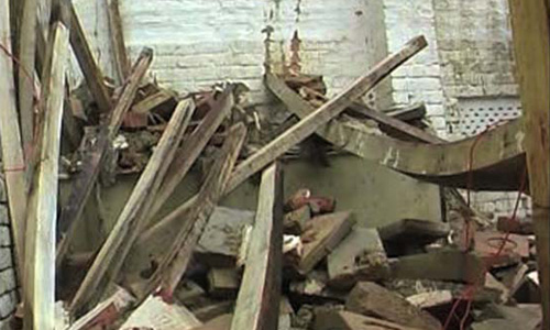Roof of school collapses, children remain safe