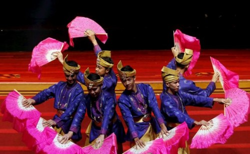 Performers participate in the opening ceremony of the 26th ASEAN Summit in Kuala Lumpur, Malaysia, April 27.