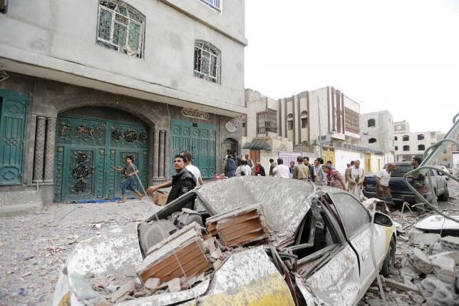 Air strikes hit military targets in Yemen capital