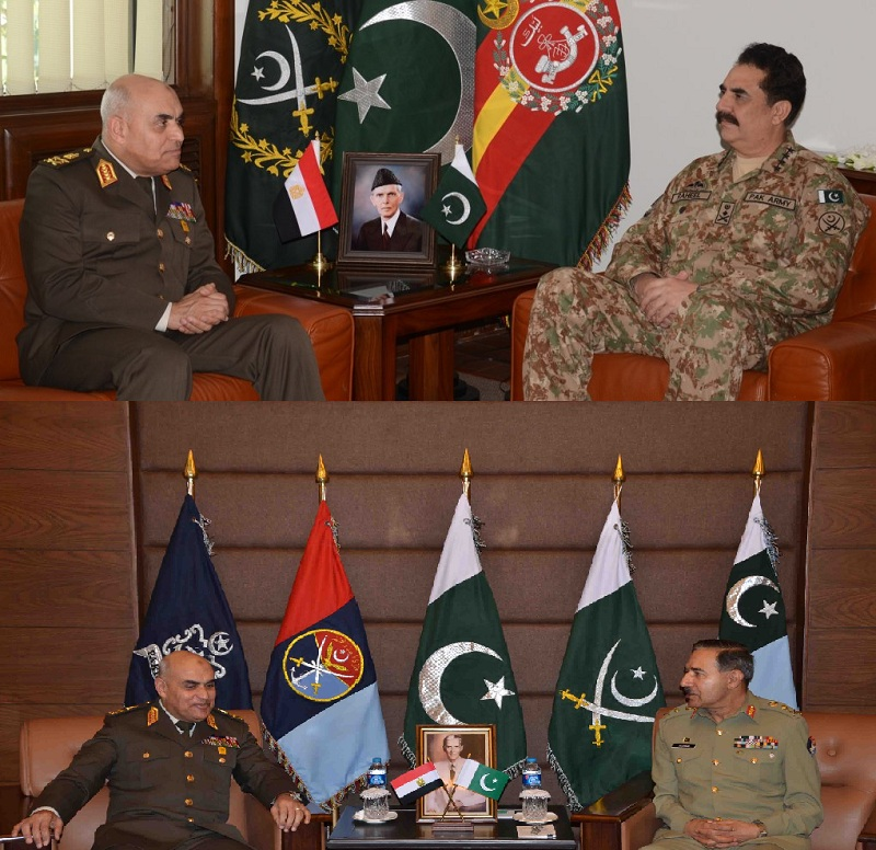 Egyptian Minister of Defense separately calls on COAS and CJCSC: ISPR