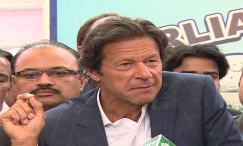 People raising uproar in assembly are afraid of judicial commission proceeding, says Imran Khan