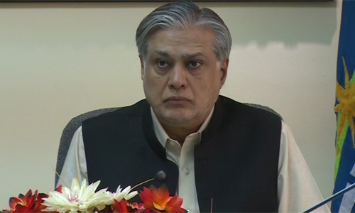 Ishaq Dar asks PTI to stop rhetoric on judicial commission issue