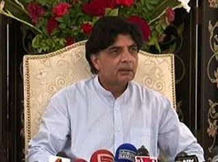 Interior Minister Chaudhary Nisar criticises Asif Zardari for anti-military statements