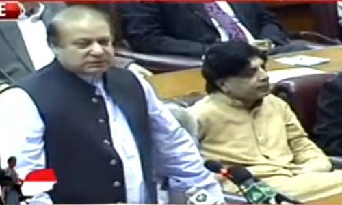 PM Nawaz Sharif says Iran should be involved in Yemen debate; joint session put off until tomorrow