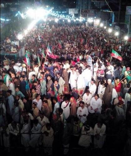 PTI crowd