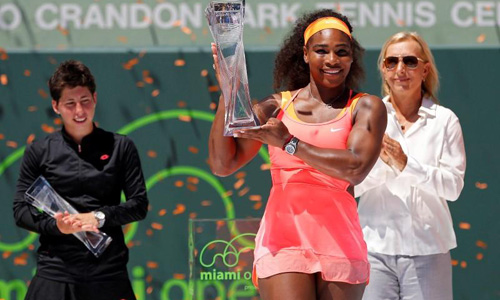 Serena strolls to eighth Miami title