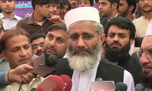 Altaf can't get Quaid's city through extortion, says JI ameer Sirajul Haq