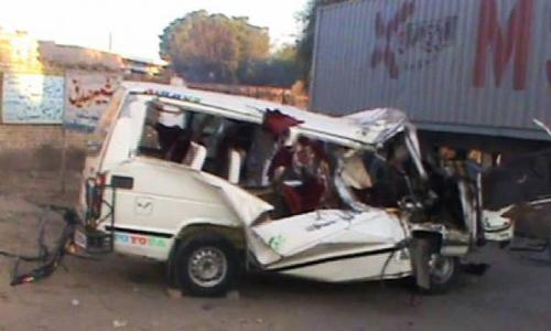 Five killed, 10 injured in trailer-van collision near Chakwal
