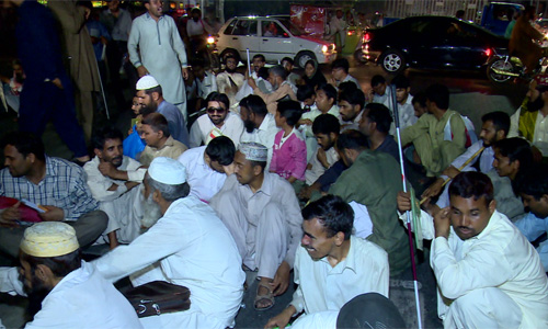 Blind People Continue Sit In For Jobs On Mall Road 92 News