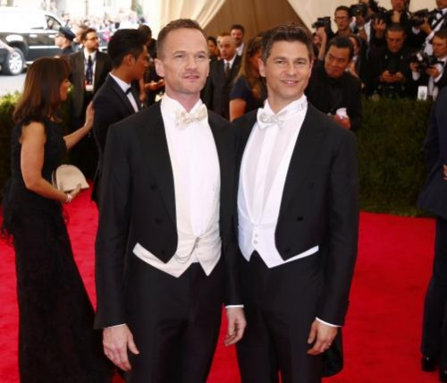Neil Patrick Harris and his husband David Burtka arrives at the Metropolitan Museum of Art Costume Institute Gala 2015 celebrating the opening of 'China: Through the Looking Glass' in Manhattan, New York