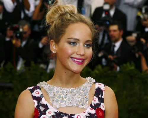 Actress Jennifer Lawrence arrives at the Metropolitan Museum of Art Costume Institute Gala 2015 celebrating the opening of 'China: Through the Looking Glass,' in Manhattan, New York