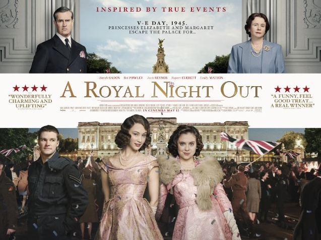 'A Royal Night Out' sees future queen party with the crowds for VE Day
