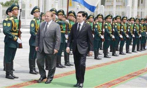 Prime Minister Muhammad Nawaz Sharif and President of Turkmenist