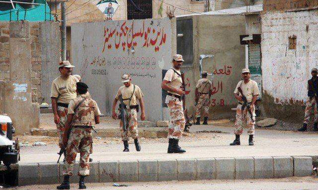 Four terrorists killed by Rangers in Karachi operation
