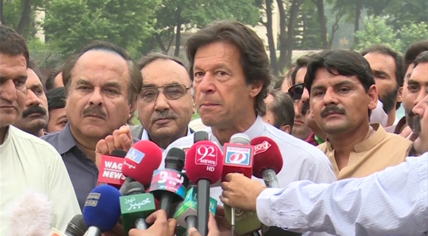 NA-19 contest to be between new and old Pakistan, says PTI chairman Imran Khan