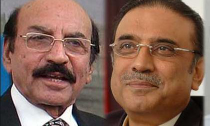 Sindh CM Qaim Ali Shah leaves for Dubai to meet Zardari