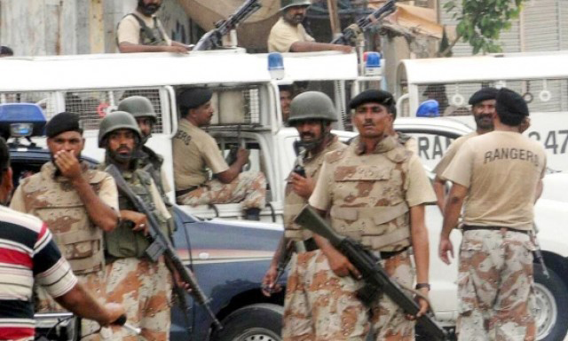 12 terrorists killed, 2 officials injured in encounter with Rangers in Karachi