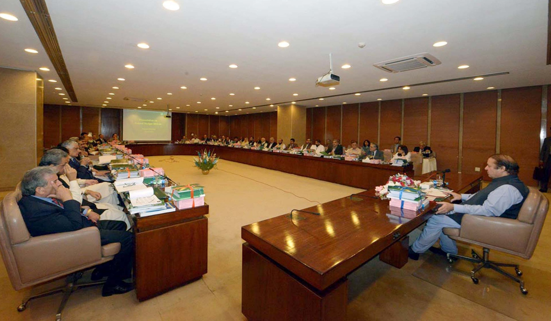 PM, Federal Cabinet Meet To Discuss Budget 2015 16 Proposals
