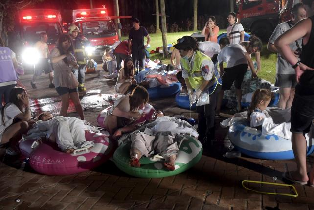Tally of injured rises to 516 in Taiwan water park fire