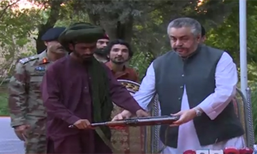 Two commanders of Balochistan's banned organization surrender