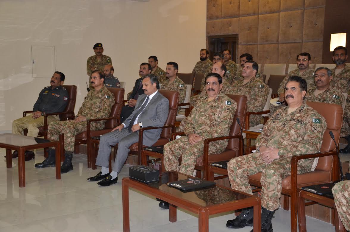 COAS General Raheel Sharif welcomes surrendering Baloch rebels