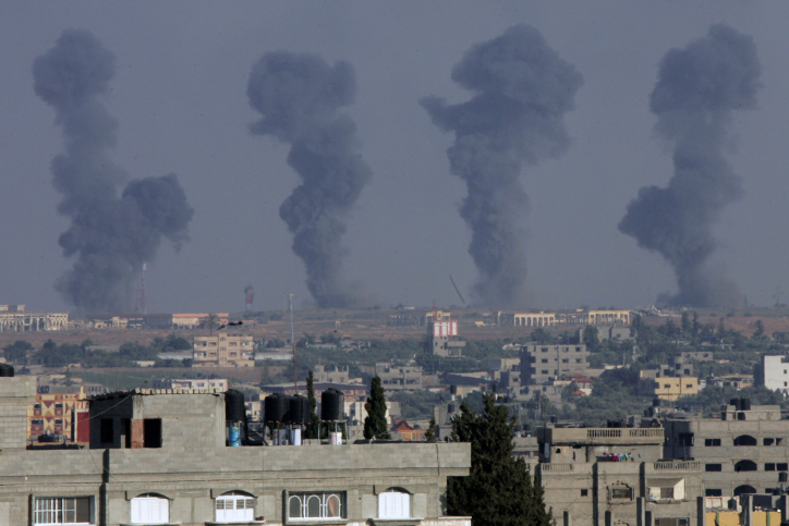Israeli air strike hits Gaza Strip after militant rocket launch