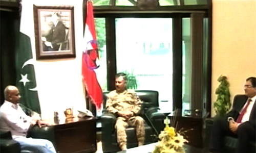 Former Sri Lankan captain Jayasuriya calls on Peshawar Corps Commander, APS students
