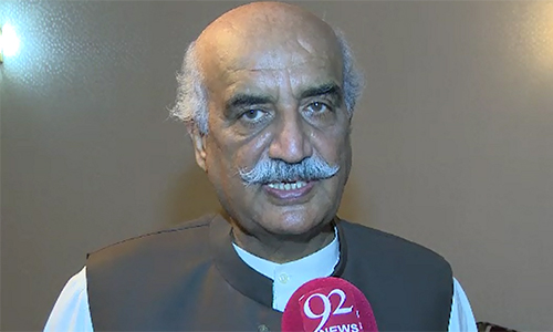 PPP leader Khurshid Shah demands ECP to resign, PTI should stay in parliament