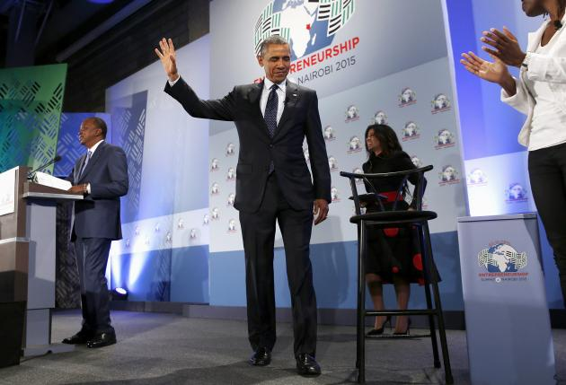 Obama says entrepreneurs in Africa can give hope, deliver growth