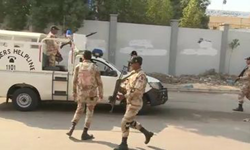 Political party's target killer, extortionist among 13 nabbed in Karachi