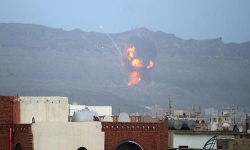 Eight dead in new Saudi-led strikes on Yemen's Sanaa