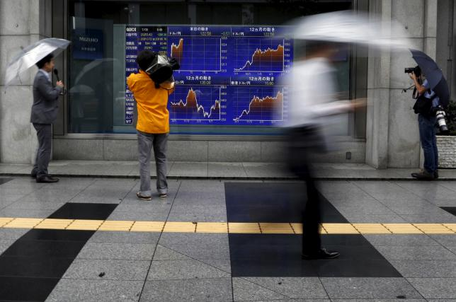 Asian shares waver, gold steadies