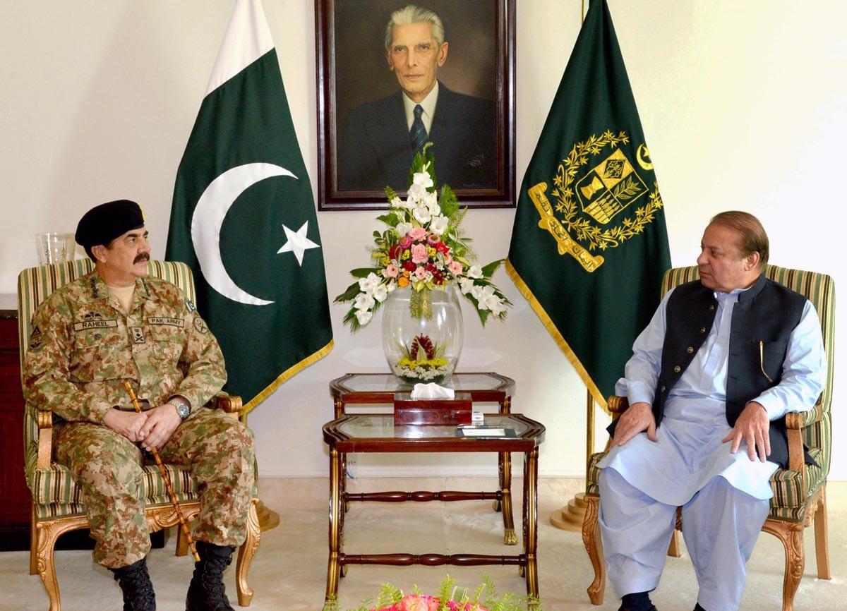 PM, COAS discuss security situation, Zarb-e-Azb