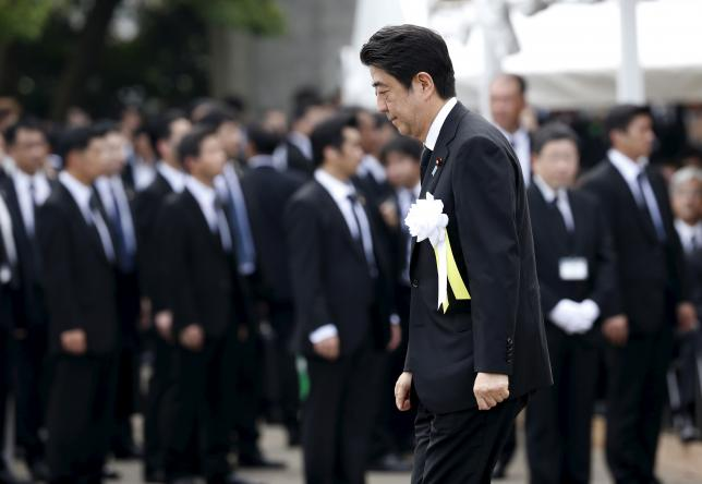Japan's Abe set to issue WW2 anniversary remarks amid conflicting pressures