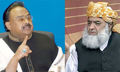 MQM chief Altaf Hussain accepts JUI-F chief Fazlur Rehman as mediator, directs Coordination Committee to hold talks