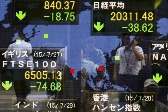 Asian shares set for third weekly drop; dollar up