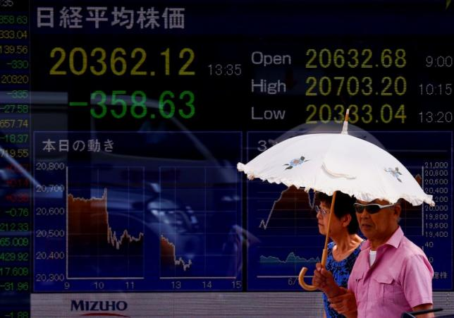 Asia shares on track for weekly losses; crude oil slumps