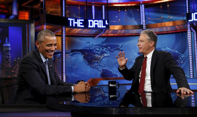 Jon Stewart steps away from comedy gold as US election heats up