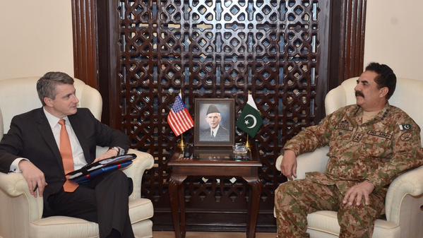 US Special Representative for Afghanistan & Pakistan Daniel Feldman meets COAS General Raheel Sharif