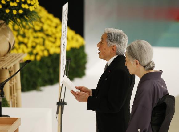 Japan emperor expresses 'deep remorse' on WW2 anniversary