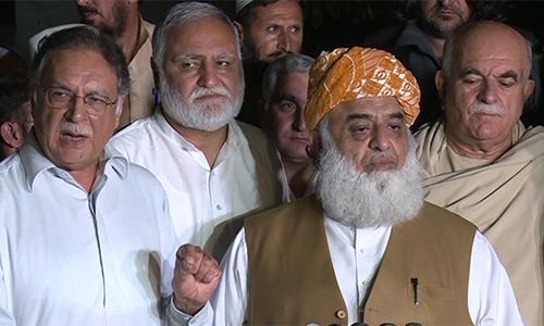 Maulana Fazlur Rahman conditionally agrees to withdraw resolution against PTI