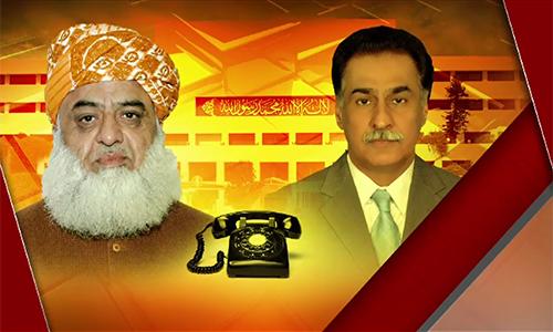 JUI-F chief Maulana Fazlur Rahman phones NA Speaker Sardar Ayaz Sadiq