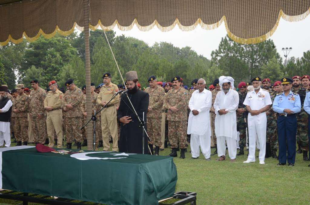 Funeral prayers of Mansehra helicopter crash martyrs offered