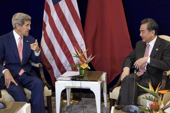 Kerry, China's Wang discuss South China Sea tensions