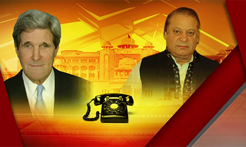 US Secretary of State John Kerry phones PM, discusses terrorism & regional situation