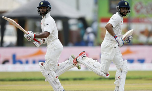 Dhawan, Kohli tons hand India control of first Test