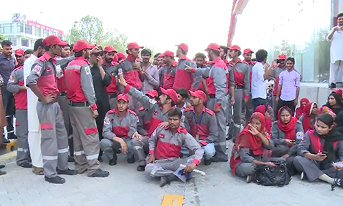 Non-payment of salaries: Rawalpindi-Islamabad Metro Bus staffers observe strike