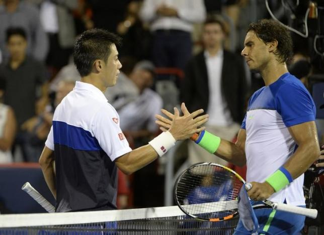 Nishikori downs Nadal in Montreal quarters